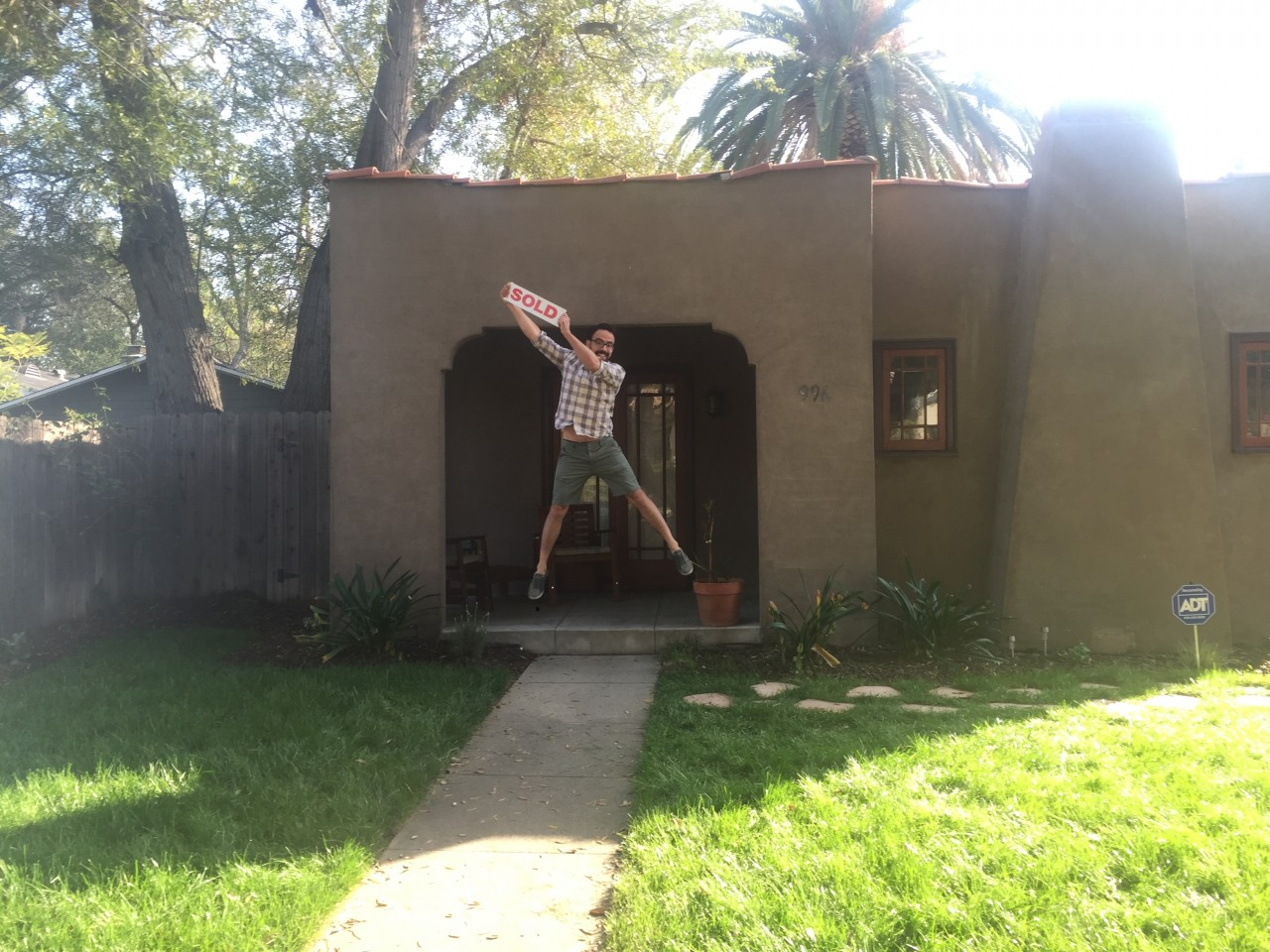 Jumping for joy in Bungalow Heaven!